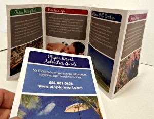 Perfect for poolside menus and brochures.