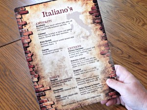 13 mil Fusion Polyester Cover is a great choice for single sheet menus because of its rigidity and that it is waterproof, as well as stain and tear resistant.