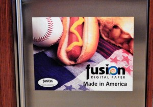 And don't forget, unlike magnets that don't adhere to stainless steel refrigerators and appliances, Fusion Woven Fabric Repositionable is the perfect solution for marketing on this surface.